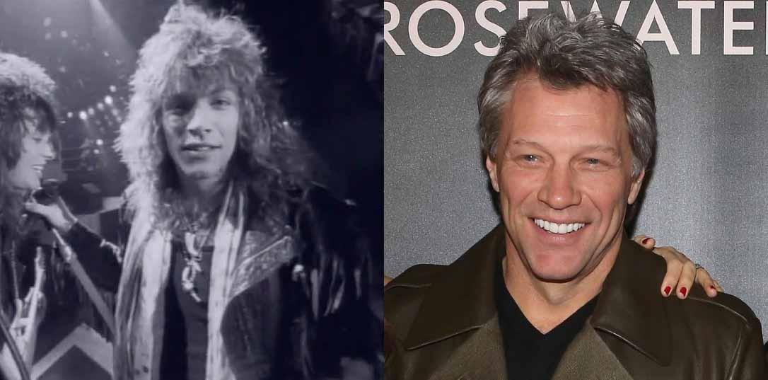 Politicamente correto, o Bon Jovi explodiu nos anos 80 com o sucesso do disco 'Slippery When Wet' (1986). O líder do grupo Jon Bon Jovi ainda hoje faz shows com a banda, além de participar de algumas produções cinematográficas. Ele casou-se com a sua namorada do colégio, Dorothea, e tem quatro filhos com ela. (Foto: Divulgação/ Getty Images)