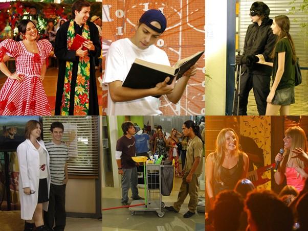 Muita festa e diversão. Até Claudia Leitte fez show na escola (Foto: TV Globo/Vídeo Show)