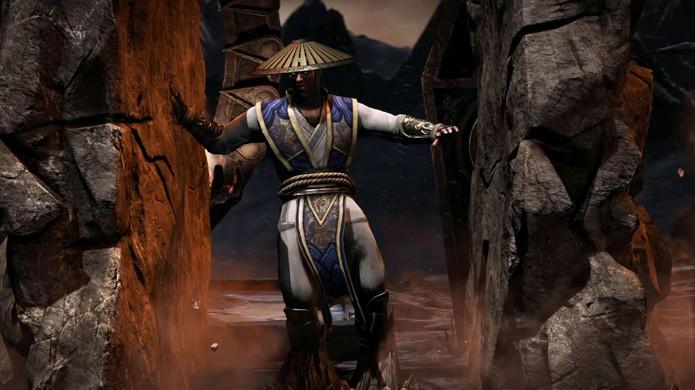 Raiden é vítima do Fatality de Tremor e será esmagado entre paredes de pedra (Foto: Reprodução/Event Hubs)