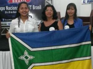 Estudante conta com a orientação de duas professoras em Macapá (Foto: Bárbara Amoras/ Arquivo Pessoal)