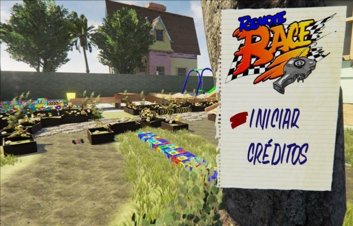 Tela inicial do jogo brasileiro Remote Race (Foto: Divulgação)