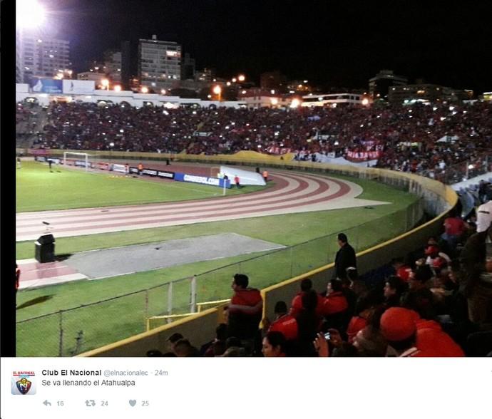 Twitter El Nacional Atlético Tucumán (Foto: Reprodução/El Nacional)