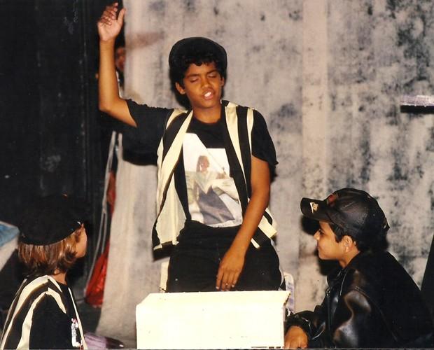 Marcellinho na infância  (Foto: Arquivo pessoal)