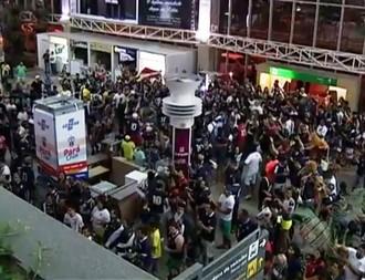Desembarque Remo aeroporto Belém (Foto: Reprodução/TV Liberal)