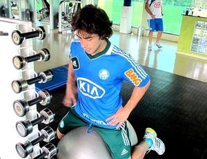 Valdivia treino Palmeiras exercícios (Foto: Marcelo Prado)
