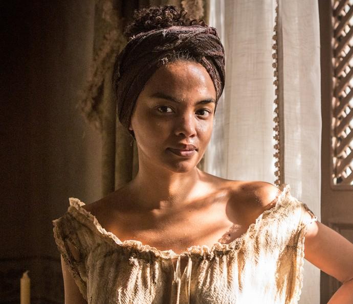 Lucy Ramos será a escrava Malena, em 'Liberdade, Liberdade' (Foto: Fabiano Battaglin/Gshow)