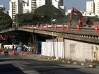 Obras no Viaduto Santo Amaro interditam trecho na Zona Sul de SP