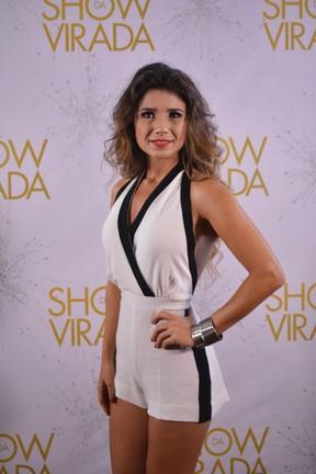 """Paula Fernandes na gravação do """"Show da virada"""" em Salvador, na Bahia (Foto: Felipe Souto Maior/ Ag. News)"""