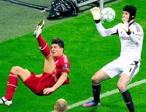 Mario Gómez na final da Liga dos Campeões entre Bayern x Chelsea (Foto: AFP)