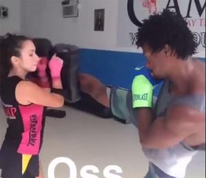 O ator emagreceu com treinos diários de muay thai e pratica a atividade ainda hoje (Foto: Arquivo pessoal)