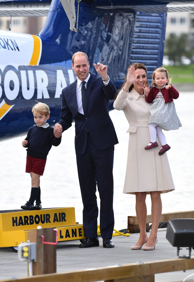 William e Kate e filhos (Foto: Getty Images)