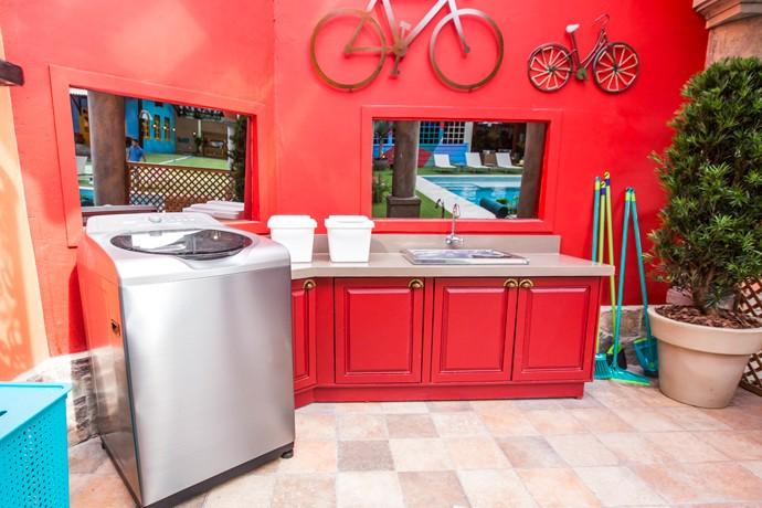 A lavanderia também ganhou uma repaginada (Foto: Artur Meninea/Gshow)