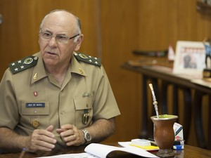 general de nardi copa das confederações; papa (Foto: Gabriel Pelaquim/G1)