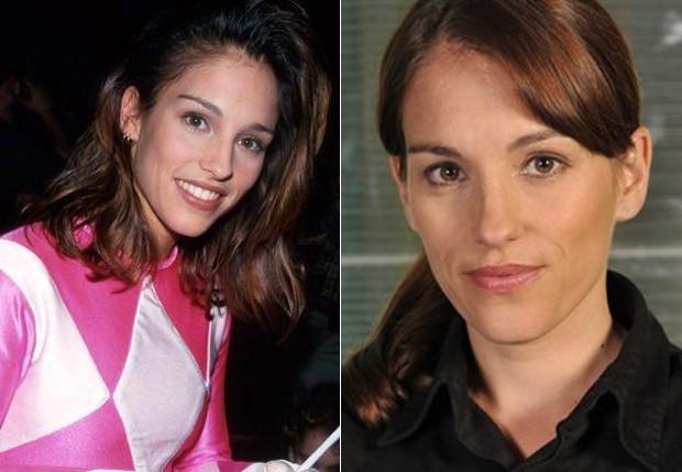 Amy Jo Johnson, a Ranger Rosa, se deu bem após sair da série (Foto: Reprodução e Getty Images)