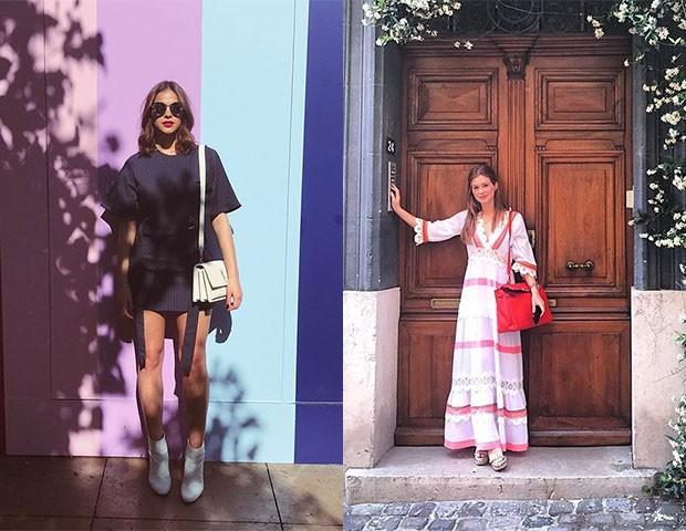 Bruna coloca as pernas no foco, enquanto Marina prefere modelos mais amplos e confortáveis (Foto: Reprodução)