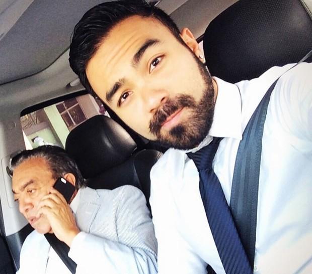 Mauro Sousa com o pai, Maurício de Sousa (Foto: Reprodução/Instagram)