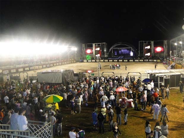 Provas foram suspensas durante rodeio de Ribeirão Preto em abril (Foto: Adriano Oliveira/G1)