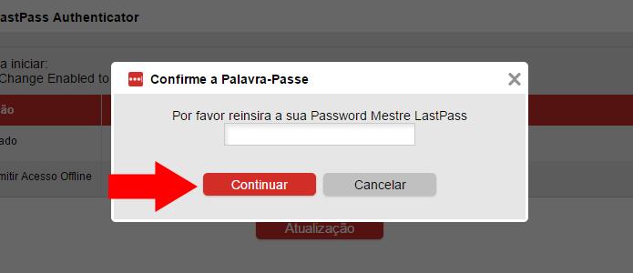 Informe sua senha do LastPass (Foto: Reprodução/Paulo Alves)