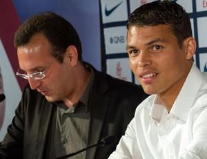 thiago silva psg apresentação (Foto: Agência AFP)
