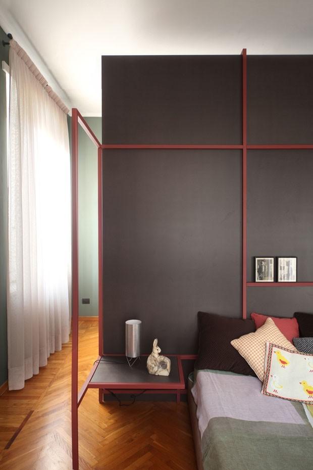 Décor do dia: minimalismo geométrico no quarto de casal (Foto: Divulgação)