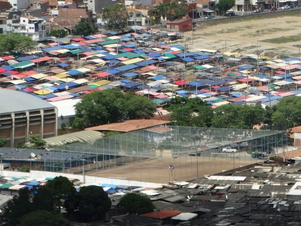 Feira de Caruaru no Parque 18 de Maio (Foto: Lafaete Vaz/G1)