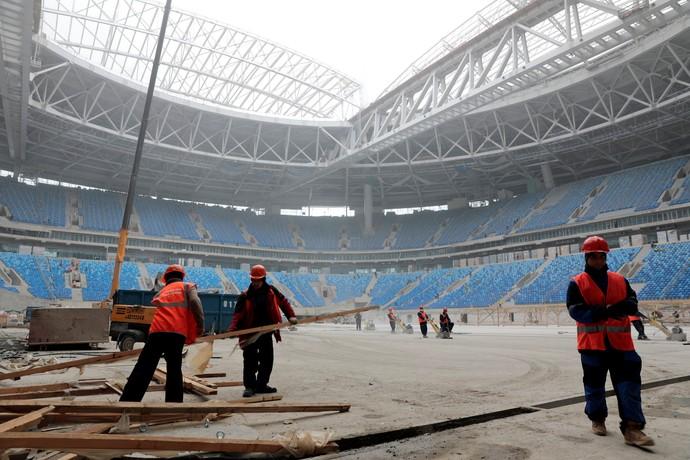 Krestovsky Stadium São Petersburgo (Foto: Reuters)