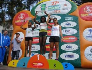 Maria do Remédios conquista 4ª etapa do Campeonato Santista de Pedestrianismo (Foto: Divulgação / Prefeitura Municipal de Cubatão)