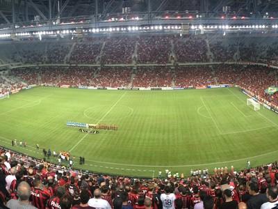 Arena da Baixada Atlético-PR Millonarios (Foto: Monique Silva)