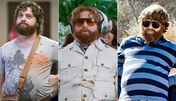 O ator em 'Se Beber, Não Case!' (2009), e nas sequências, em 2011 e 2013  (Foto: Divulgação/Reprodução)