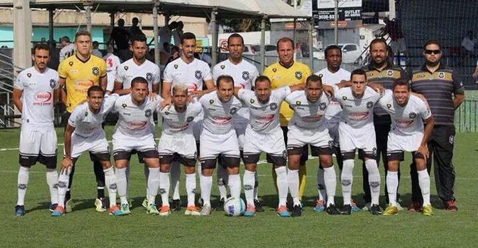 O título da Liga Mundial de Clubes de futebol 7 foi o primeiro e único do Rio Branco-ES na temporada 2014 (Foto: Divulgação/Liga FUT 7)