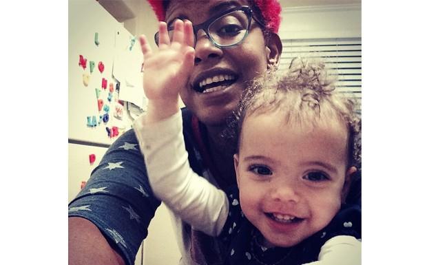 Na Califrnia, com a filha Gaelle (Foto: Instagram)
