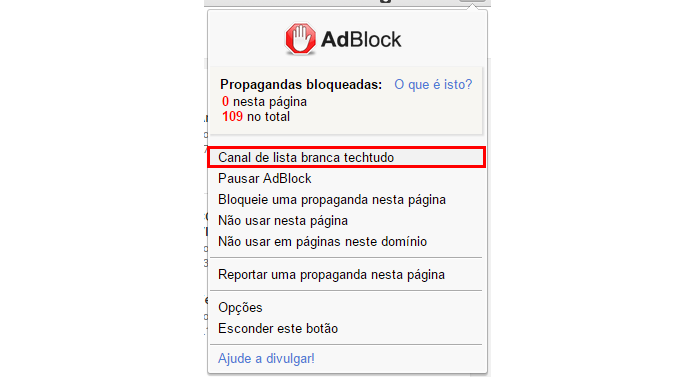 Adicione um canal à sua lista de permissões (Foto: Reprodução/Paulo Alves)