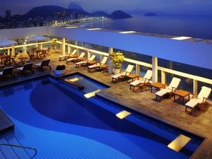 Vista do terraço do Rio Othon Palace, em Copacabana (Foto: Divulgação/Rio Othon Palace)