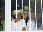 Seu Francisco elogia Graciele Lacerda antes de desfile: 'Ela está linda'