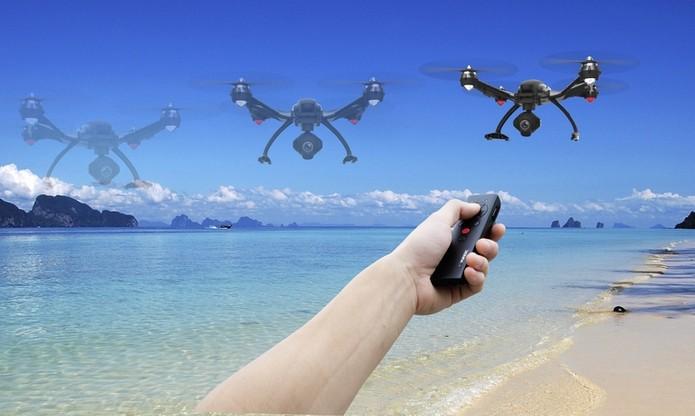 Typhoon Wizard, controle de única mão para drones da série Typhoon (Foto: Divulgação/Yuneec)