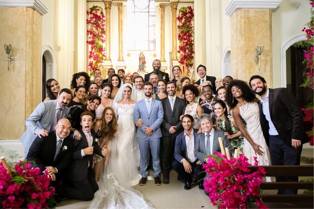Gravação do casamento dos personagens Alice e Mario em Sol Nascente (Foto: Globo/Tata Barreto)
