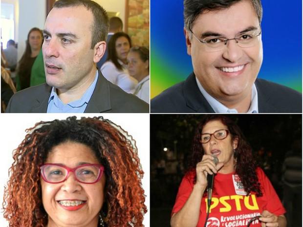 Candidatos que não passaram para o 2º turno em Juiz de Fora (Foto: G1)