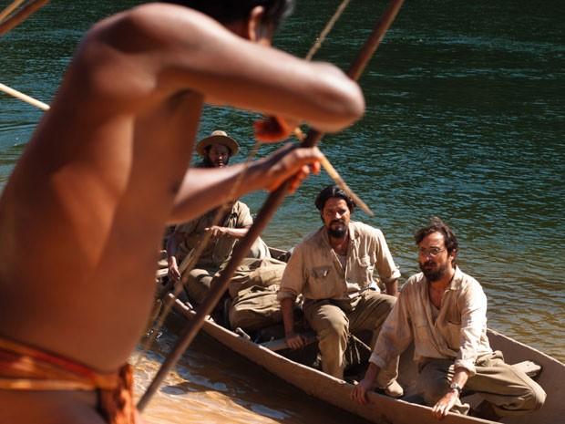 Irmãos Vilas Bôas conhecem os índios em Xingu (Foto: Divulgação/TV Globo)