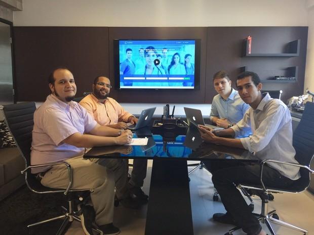Equipe acredita que aplicativo é pioneiro no Brasil (Foto: Arquivo Pessoal/Leonardo Brêda)