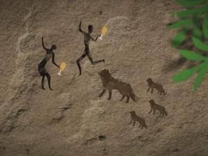 Homens e cães tiveram uma relação de troca no começo (Foto: Reprodução/TV TEM)