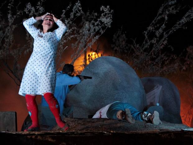 """Espetáculo """"O Massacre de Angico – A Morte de Lampião"""" (Foto: Divulgação/ Ascom)"""