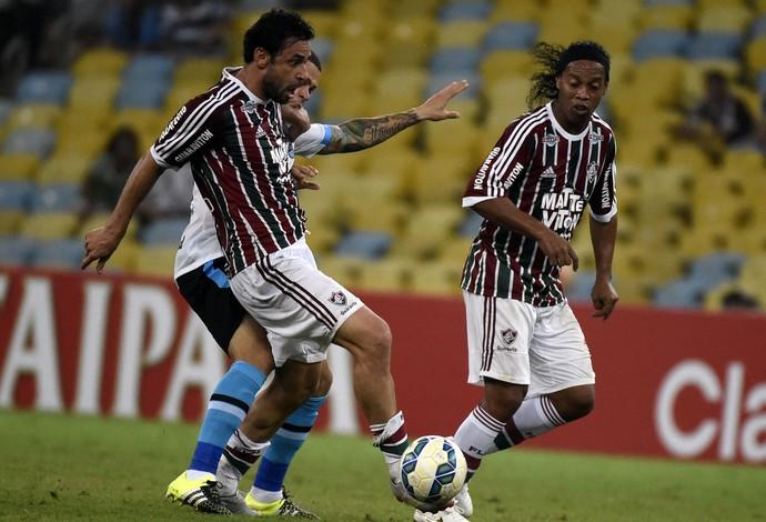 Fluminense x Grêmio, Maracanã, Fred e Ronaldinho (Foto: André Durão)