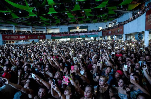 Marília Mendonça faz show na quadra da Mocidade Independente de Padre Miguel (Foto: Divulgação)