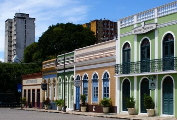 Casas históricas do Centro de Manaus (Foto: Divulgação/Marcus Melo)
