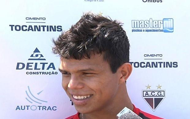 Fábio Lima, meia do Atlético-GO (Foto: Reprodução/TV Anhanguera)