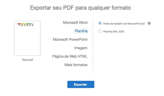 converter pdf em excel