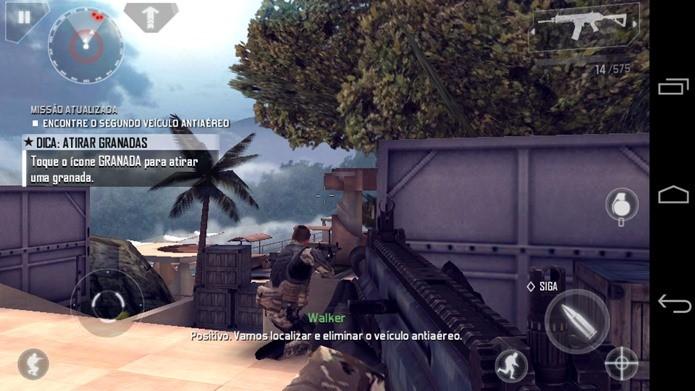 Tire uma Screenshot do jogo para poder saber onde ficam os botões virtuais (Foto: Reprodução / Dario Coutinho)