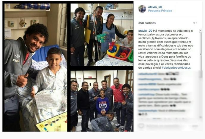 Visita; Atlético-PR; hospital (Foto: Reprodução/Instagram)