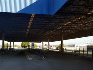 Terminal Ouro Verde, em Campinas, sem ônibus (Foto: André Natale/EPTV)