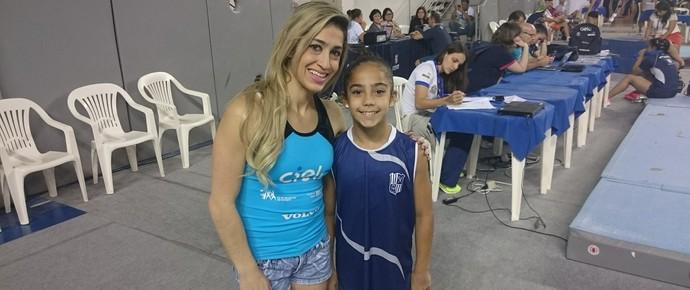 Daniele Hypólito e Camila Siqueira, no Campeonato Brasileiro (Foto: Rafael Araújo)